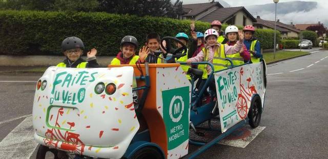 Des cyclo-bus scolaires financés par une collectivité normande
