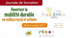 """Intervention de DROMOLIB à la prochaine formation du RTES """"Mobilité durable en milieu rural et urbain"""""""