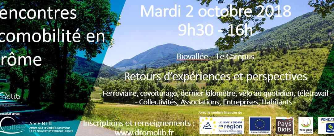 Prochaines rencontres de l'écomobilité en Drôme – mardi 2 octobre 2018 – 9h30-16h
