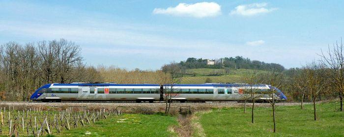 Une navette ferroviaire en Biovallée