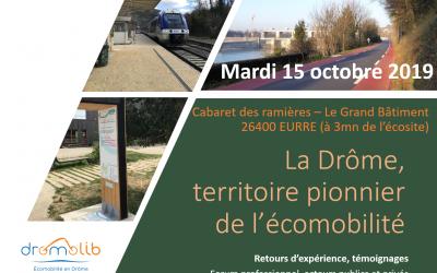 La Drome, territoire pionnier de l'écomobilité – Mardi 15 octobre 2019, à Eurre – Cabaret des ramières