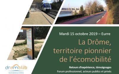 La Drome, territoire pionnier de l'écomobilité – Mardi 15 octobre 2019, à Eurre