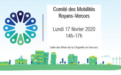 Royans-Vercors, Lancement du Comité des Mobilités le lundi 17 février 2020