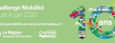 Participez au Challenge Mobilité Auvergne Rhône-Alpes 2020 !